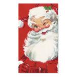 Vintage Christmas, Santa Claus Business Card Template