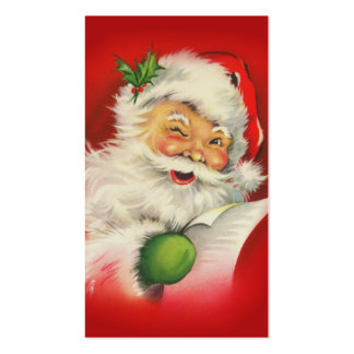 Vintage Christmas Santa Claus Double-Sided Standard Business Cards (Pack Of 100)