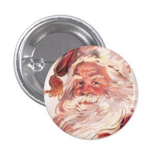 Vintage Christmas Santa Claus Button