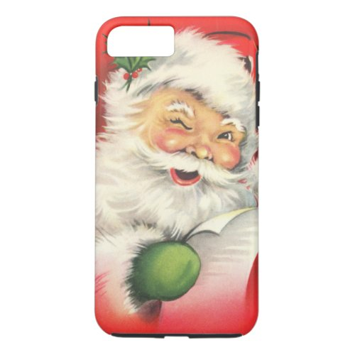 Vintage Christmas Santa Claus iPhone 8 Plus7 Plus Case
