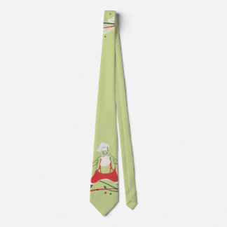 Vintage Christmas, Santa Claus Chef with Dinner Tie