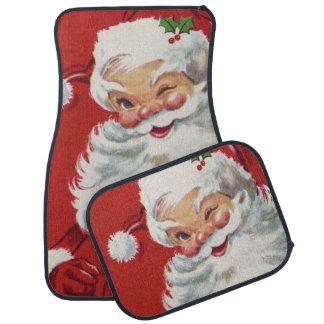 Vintage Christmas, Santa Claus Floor Mat