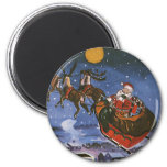 Vintage Christmas, Santa Claus Fridge Magnet