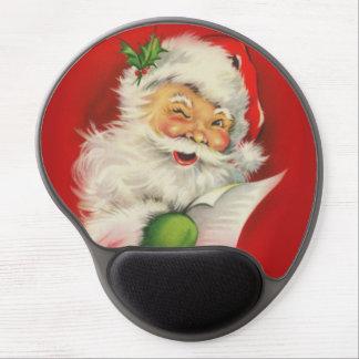 Vintage Christmas Santa Claus Gel Mouse Pad