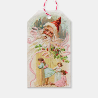 Vintage Christmas Santa Claus Gift Tags