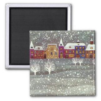 Vintage Christmas, Santa Claus Horse Open Sleigh Magnet