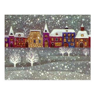Vintage Christmas, Santa Claus Horse Open Sleigh Postcard