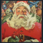 "Vintage Christmas, Santa Claus in Sleigh with Toys Napkin<br><div class=""desc"">Vintage illustration Merry Christmas holiday image featuring a jolly Santa Claus flying his sleigh with a sack full of games,  toys and dolls. You can see Santa&#39;s long white beard blowing in the wind!</div>"