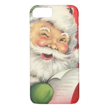Christmas Themed Vintage Christmas Santa Claus iPhone 7 Case