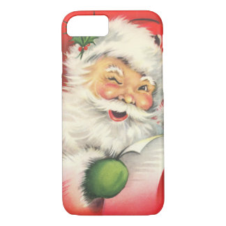 Vintage Christmas Santa Claus iPhone 7 Case