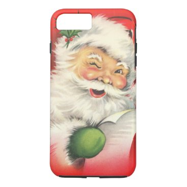 Christmas Themed Vintage Christmas Santa Claus iPhone 7 Plus Case