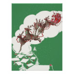 Vintage Christmas, Santa Claus is Coming to Town Poster