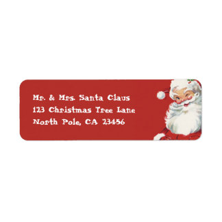Vintage Christmas, Santa Claus Custom Return Address Labels