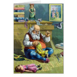 Vintage Christmas, Santa Claus Making Toy Dolls Cards