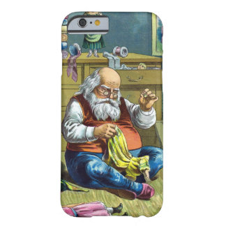 Vintage Christmas, Santa Claus Making Toy Dolls Barely There iPhone 6 Case