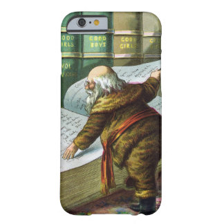 Vintage Christmas, Santa Claus Naughty Nice List Barely There iPhone 6 Case