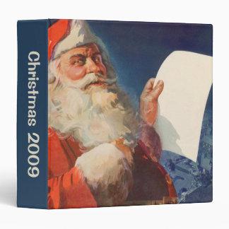 Vintage Christmas, Santa Claus Naughty Nice List Binder