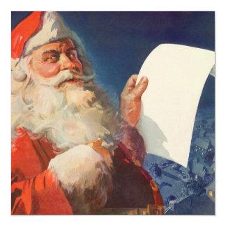 Vintage Christmas, Santa Claus Naughty Nice List Card