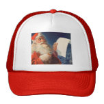 Vintage Christmas, Santa Claus Naughty Nice List Trucker Hat