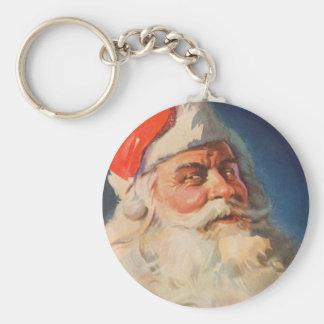 Vintage Christmas, Santa Claus Naughty Nice List Keychain