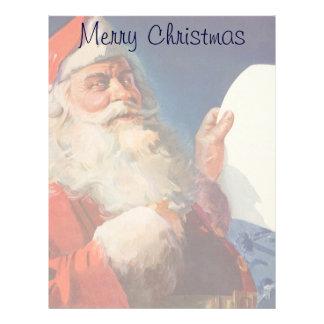 Vintage Christmas, Santa Claus Naughty Nice List Letterhead