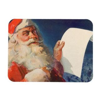 Vintage Christmas, Santa Claus Naughty Nice List Magnet
