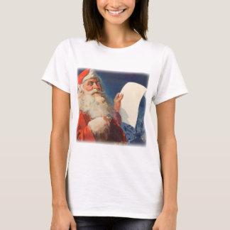 Vintage Christmas, Santa Claus Naughty Nice List T-Shirt