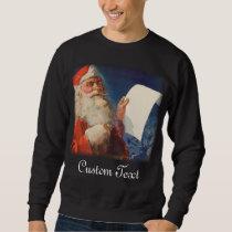 Vintage Christmas Santa Claus Naughty or Nice List Sweatshirt
