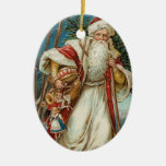 Vintage Christmas Santa Claus Christmas Tree Ornaments