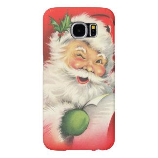 Vintage Christmas Santa Claus Samsung Galaxy S6 Case