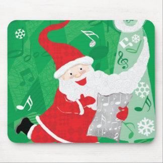 Vintage Christmas, Santa Claus Singing and Dancing Mouse Pad