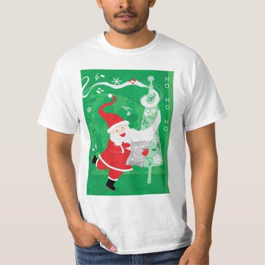 Vintage Christmas, Santa Claus Singing and Dancing T-Shirt