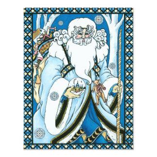 Vintage Christmas Santa Claus Snowglobe Invitation