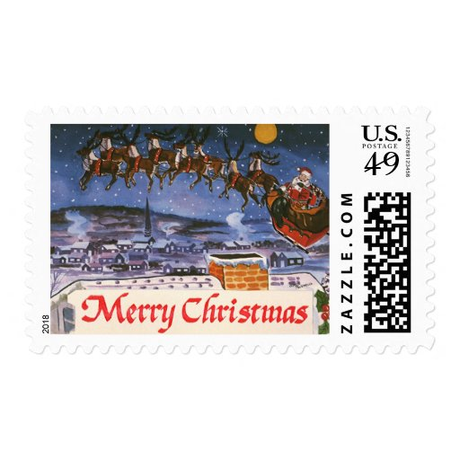 Vintage Christmas, Santa Claus Stamps