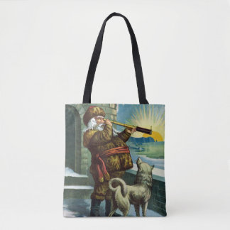 Vintage Christmas, Santa Claus Toys and Stockings Tote Bag