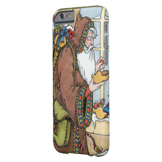 Vintage Christmas, Santa Claus Toys Clogs Shoes Barely There iPhone 6 Case