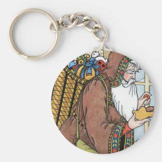 Vintage Christmas, Santa Claus Toys Clogs Shoes Keychain