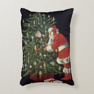 Vintage Christmas, Santa Claus with Presents Accent Pillow