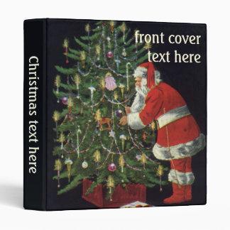 Vintage Christmas, Santa Claus with Presents Binder