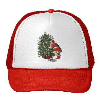 Vintage Christmas, Santa Claus with Presents Trucker Hat