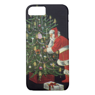 Vintage Christmas, Santa Claus with Presents iPhone 8/7 Case