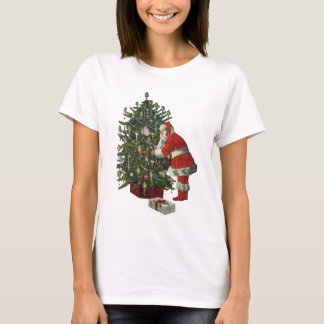 Vintage Christmas, Santa Claus with Presents T-Shirt