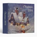 Vintage Christmas, Santa Claus Workshop North Pole Binders