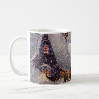 Vintage Christmas, Santa Claus Workshop North Pole Classic White Coffee Mug