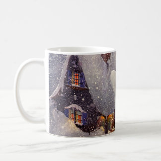 Vintage Christmas, Santa Claus Workshop North Pole Coffee Mug