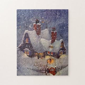 Vintage Christmas, Santa Claus Workshop North Pole Puzzles