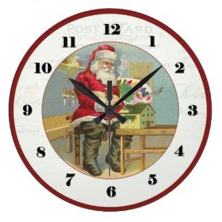Vintage Christmas Santa Clock