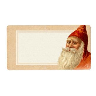 Vintage Christmas Santa Gift Shipping Label
