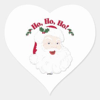 Vintage Christmas Santa Ho,Ho,Ho! Heart Sticker