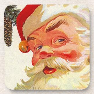 Vintage Christmas Santa Holiday Claus Coasters Set